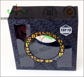 Gold Foil Stamping Custom Product Packaging Boxes With PVC Transparent Window